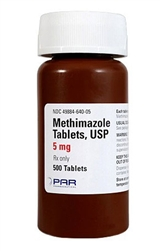 Methimazole 5mg, 100 Tablets