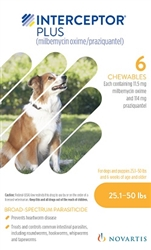 Interceptor Plus For Dogs 25.1-50 lbs 6 Pack