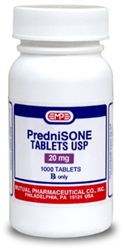 Prednisone 20mg, 1000 Tablets