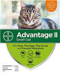 Advantage II For Small Cats 5-9 lbs, 6 Pack