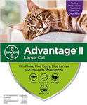 Advantage II For Large Cats Over 9 lbs, 6 Pack