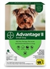 Advantage II For Small Dogs 1-10 lbs, Green 6 Pack