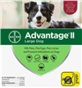 Advantage II For Large Dogs 21-55 lbs, 6 Pack