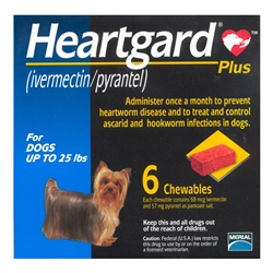 Heartgard Plus Chewables For Dogs Up To 25 lbs, 6 Pack