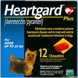 Heartgard Plus Chewables For Dogs Up To 25 lbs, 12 Pack