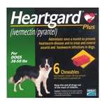 Heartgard Plus Chewables For Dogs 26-50 lbs, 6 Pack
