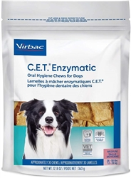 C.E.T. Enzymatic Oral Hygiene Chews For Dogs, Large 30 Chews