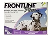 Frontline Plus for Dogs 45-88 lbs, Purple 6 Tubes