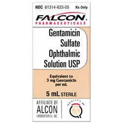 Gentamicin Sulfate Ophthalmic Solution, 5 ml