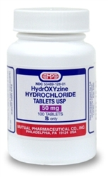 Hydroxyzine HCl 50mg, 1000 Tablets