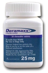 Deramaxx (Deracoxib) Chewable Tablets 25mg, 30 Tablets