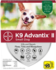 K9 Advantix II For Small Dogs Up To 10 lbs, 4 Pack