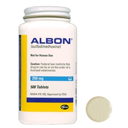 Albon 250mg, 500 Tablets