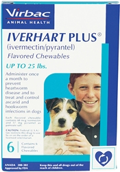 Iverhart Plus for Dogs Up to 25 lbs, 6 Pack