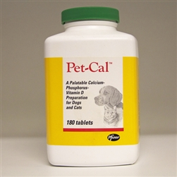 Pet-Cal Dogs & Cats, 180 Tablets