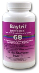 Baytril 68mg Taste Tabs, 250 Tablets