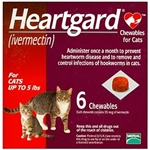 Heartgard Chewables For Cats 1-5 lbs, Red 10 x 6 Pack