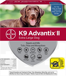 K9 Advantix II For Extra Large Dogs Over 55 lbs, 6 Pack