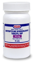 Amitriptyline 50mg, 100 Tablets