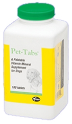 Pet-Tabs Vitamin Mineral Supplement, 180 Tablets