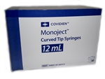 Monoject Curved Tip Syringe 12cc, 50/Box