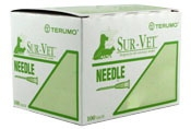 "Terumo Sur-Vet Needles 22G  x 3/4"" [Regular Wall], 100/Box"