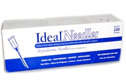 "Ideal Needles, 18 gauge x 1"", Hard Pack 100/Box"