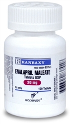 Enalapril 20mg, 100 Tablets