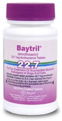 Baytril 22.7mg, 100 Film Coated Tablets