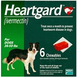 Heartgard Chewables For Dogs 26-50 lbs, 6 Pack