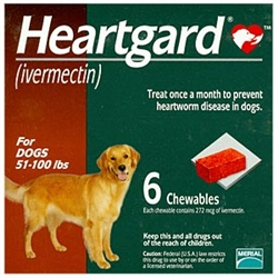 Heartgard Chewables For Dogs 51-100 lbs, 6 Pack