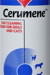 Cerumene Ear Cleaning Liquid For Dogs and Cats, 4 oz.
