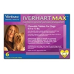Iverhart Max for Dogs 6-12 lbs, 6 Pack