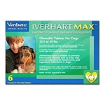 Iverhart Max for Dogs 25-50 lbs, 6 Pack