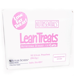 Henry Schein NutriSentials Lean Treats for Cats, 3.5 oz., Resealable Pouch, 10 Pack
