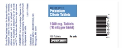 Potassium Citrate 10 mEq, 100 Tablets