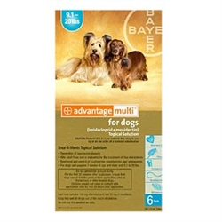 Advantage Multi For Dogs 9-20 lbs, 6 Pack