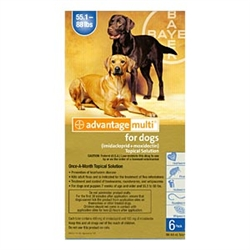 Advantage Multi For Dogs 55-88 lbs, 6 Pack