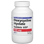 Doxycycline 100mg, 50 Tablets