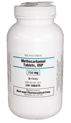 Methocarbamol 750mg, 100 Tablets