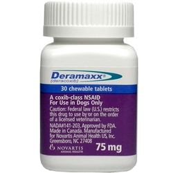 Deramaxx Chewable Tablets 75mg, 30 Tablets