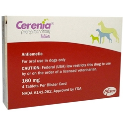 Cerenia 160mg, 4 Tablets