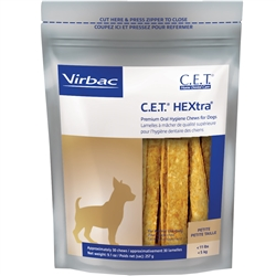 CET HEXtra Premium Chews with Chlorhexidine for Dogs, 30 PETITE