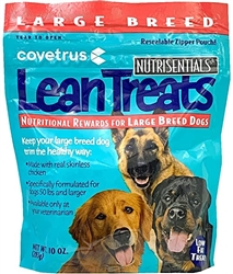 Covetrus NutriSentials Lean Treats for Large Dogs, 10 oz, 8 Pack