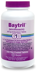 Baytril 68mg, 250 Film Coated Tablets