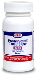 Prednisone 20mg, 500 Tablets