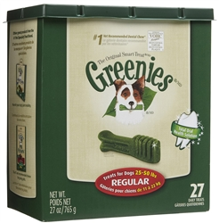 Greenies Tub Treat Pack, Regular 27 oz. (27 Count)
