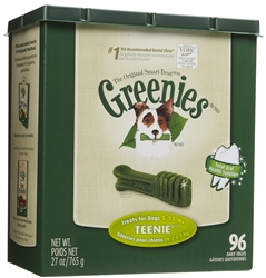 Greenies Tub Treat Pack, Teenie 27 oz. (96 Count)
