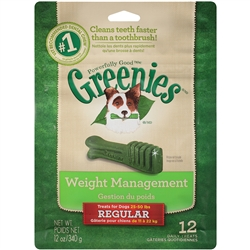 Greenies Weight Management Treats For Dogs 25-50 lbs, Regular, 12 Daily Treats