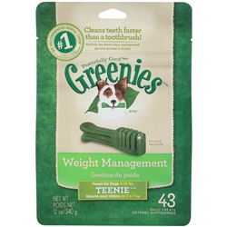 Greenies Weight Management Treats For Dogs 5-15 lbs, Teenie 43 Count
